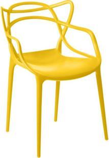 Cadeira Facthus Allegra Sala De Jantar Amarelo - D'Rossi - Amarelo - Dafiti