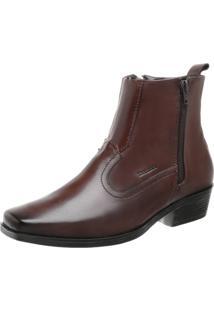 Sapato Abotinado Walk Way West 5007 Mouro