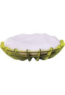 Puff Pet Arena Maior Estrutura Verde Almofada Branca 76Cm - 62269 - Sun House