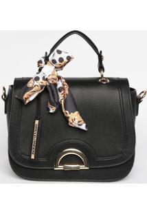 Bolsa Com Bolso & Bag Charm- Preta- 20X24X12Cmloucos E Santos