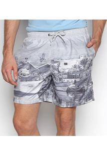Shorts Jab Pier Masculino - Masculino-Branco