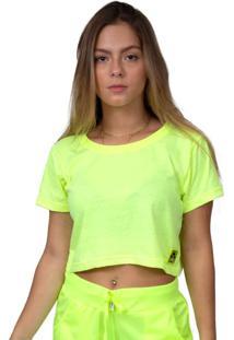 Camiseta Kings Sneakers Cropped Neon Amarelo - Kanui