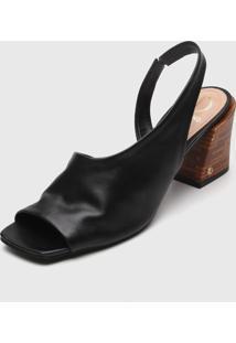 Sandália Dumond Assimétrica Preta
