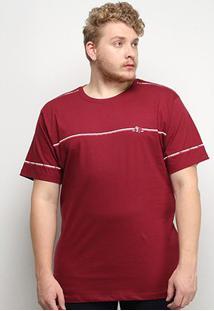 Camiseta T-Shirt Gajang Plus Size Masculina - Masculino-Bordô