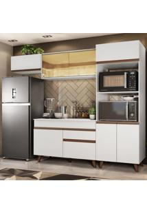 Cozinha Completa Madesa Reims 260001 Com Armã¡Rio E Balcã£O - Branco Branco - Branco - Dafiti
