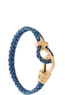 Nialaya Jewelry Bracelete 'Lock' Com Couro - Azul