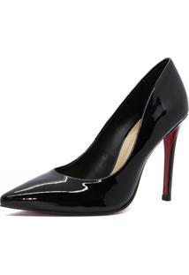 Scarpin Shoes Inbox Stiletto Verniz Preto