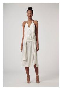 Vestido Midi Off Glitter Off White
