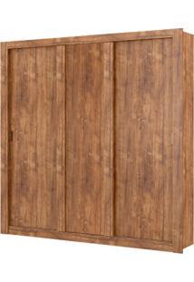 Guarda-Roupa Elus Com Espelho - 3 Portas - Native Ou Native Com Branco