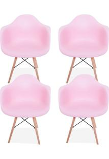 Kit 04 Cadeiras Decorativas Lyam Decor Melbourne Rosa