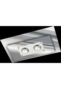 Plafon Saturno Aluminio E Vidro Pmr 136 Escovado Espelhado Bivolt