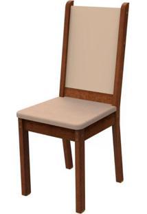 Kit 2 Cadeiras 4281 Madesa Rustic/Crema/Pérola