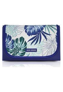 Tapete Para Piquenique Impermeável Jacki Design Tropicália Azul .