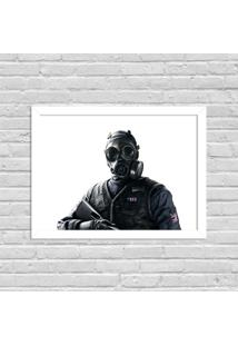 Quadro Decorativo Gamer Tom Clancy'S Branco - Grande