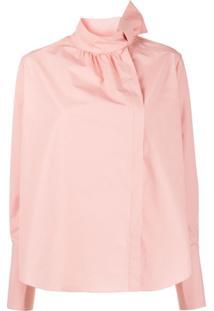 Fendi Blusa Com Detalhe De Laço - Rosa