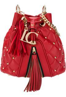 La Carrie Bolsa Saco Matelassê - Vermelho
