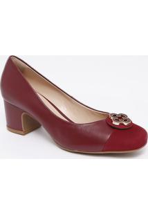 Sapato Tradicional Em Couro Com Recorte - Bordã´- Salcapodarte