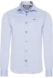Camisa Masculina Top Sarjada - Azul Claro