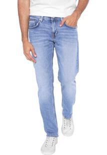 Calça Jeans Tommy Hilfiger Reta Estonada Azul
