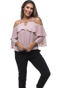Blusa Clara Arruda Decote Fivela - Feminino