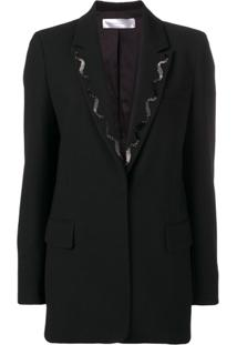 Victoria Beckham Beaded Embroidery Blazer - Preto