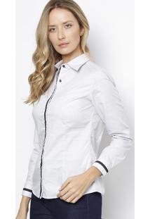 fd60401563 Camisa Manga Longa Poa feminina