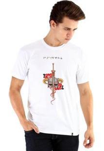 Camiseta Ouroboros Manga Curta Fus Ro Dah !! - Masculino-Branco