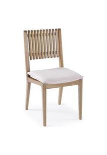 Cadeira Farm Com Encosto Ripado E Assento Estofado - 50906 Preto