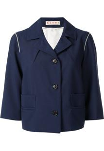 Marni Fitted Blazer Jacker - Azul