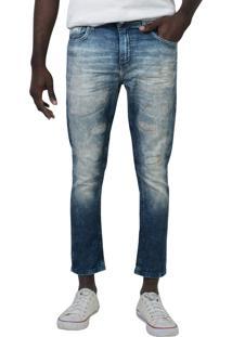 Calça Jeans Carrot Yck'S Azul