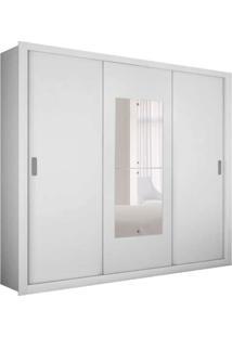 Guarda-Roupa Casal Com Espelho Veneza Premium Branco 3 Pt 4 Gv