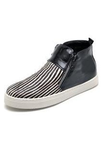 Bota Hiate Leticia Alves 26100 Preta Zebra