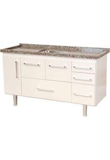 Gabinete De Cozinha New Life 147,3X55Cm Branco Bonatto