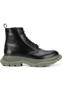 Alexander Mcqueen Ankle Boot Chunky - Preto