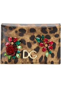 Dolce & Gabbana Carteira Animal Print - Preto