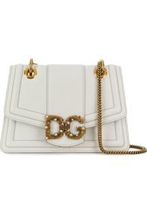 Dolce & Gabbana Bolsa Tiracolo Dg Amore De Couro - Branco