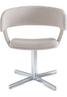Cadeira Inhotim Assento Estofado Rustico Cru Base Fixa Em Aluminio - 55877 Sun House
