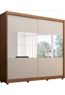 Guarda-Roupa Casal Com Espelho Orfeu 2 Pt 5 Gv Off White E Madeirado