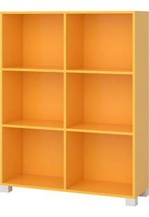 Organizador Com 6 Nichos Treviso Amarelo - Lc Móveis