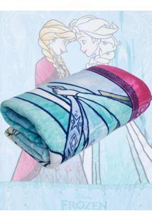 Cobertor Solteiro Lepper Frozen Dupla Face Azul 1,55 X 2,20