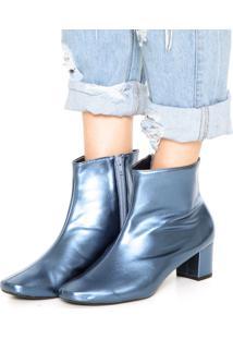 Bota Dafiti Shoes Metalizada Azul