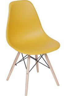 Cadeira Eames Dkr- Aã§Afrã£O & Madeira Clara- 80,5X46,Or Design