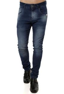 Calça Jeans Masculina Rock E Soda Azul
