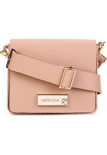 Bolsa Petite Jolie Mini Bag Básica Rose Feminina - Feminino-Nude