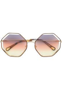 Óculos De Sol Chloe Marrom feminino   Shoelover 15dfb80152