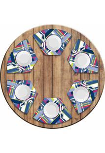 Jogo Americano Love Decor Para Mesa Redonda Wevans Poly Kit Com 6 Pçs - Kanui