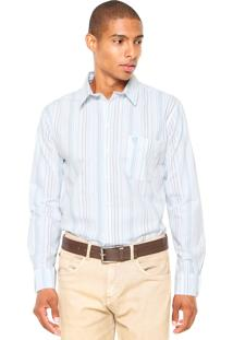 Camisa Mr. Kitsch Listrada Azul