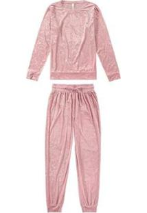 Pijama Malwee Liberta Longo Veludo Molhado Feminino - Feminino