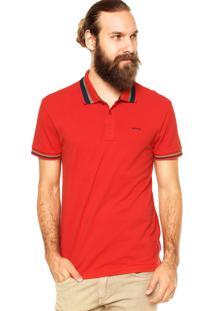 Camisa Polo Sommer Slim Listra Vermelha