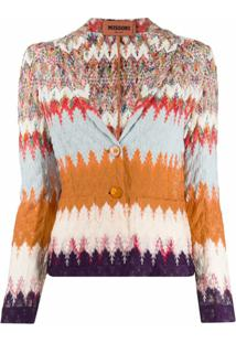 Missoni Cardigan De Tricô Abstrato - Neutro